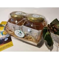 """cesto regalo cartone bio """"Qualità Parco Adamello Brenta"""" 250 gr"""