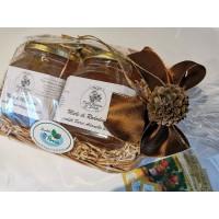 """cesto regalo in legno vimini """"Qualità Parco Adamello Brenta"""" 500 gr"""