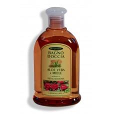 Bagno doccia Aloe Vera e Miele - Petali di Rosa - 300 ml Addolcente.