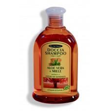 Bagno-shampoo Aloe Vera e Miele - Legni di Sandalo - 300 ml Energizzante.
