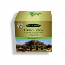 Crema viso rigenerante all'olio di oliva biologico con acido jaluronico e miele d'acacia