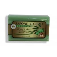 Sapone vegetale all'olio di oliva biologico con miele d'acacia e vitamina E