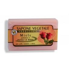 Sapone vegetale: sapone Miele e petali di Rosa